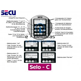 Ηλεκτρονική κλειδαριά SECU Selo-C