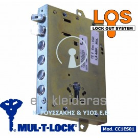 Ηλεκτρική κλειδαριά κυλίνδρου MUL-T-LOCK, με 4 πείρους και γλώσσα πάνω, με κωδικό CC1ES01