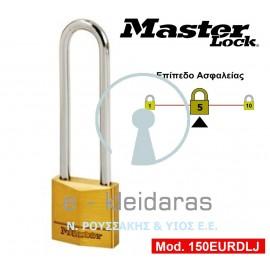 Λουκέτο Ορειχάλκινο, με μακρύ λαιμό, Master Lock, με κωδικό 150 EURDLJ