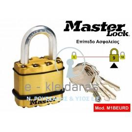 Λουκέτο Υψίστης Ασφαλείας, EXCELL, Βαρέως τύπου, Ορειχάλκινο, Master Lock, με κωδικό M1BEURD