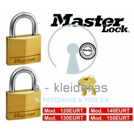 Σετ 2 Λουκέτα Ορειχάλκινα, Master Lock, με κωδικούς 120, 130, 140, 150EURT