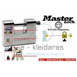 Λουκέτα Ψευδαργύρου, Επικαλυμμένα με σκληρυμένο χάλυβα, Master Lock, με κωδικό 680, 690EURD