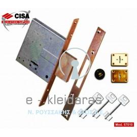 Πρόσθετη κλειδαριά ασφαλείας CISA με κλειδί τύπου χρηματοκιβωτίου, με κωδικό 57010-50