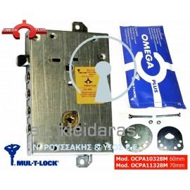 Κλειδαριά Ασφαλείας OMEGA PLUS, από την εταιρεία MUL-T-LOCK, με 4 πείρους, γλώσσα πάνω, με κωδικό OCPA1