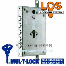 Κλειδαριά Mul-t-lock με κύλινδρο, 5 πείρους κλειδώματος, Χωρίς Γλώσσα με κωδικό CMA0328 & CMA1328