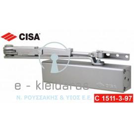 Μηχανισμός επαναφοράς πόρτας (σούστα) βαρέως τύπου με STOP Cisa C1511-3-97