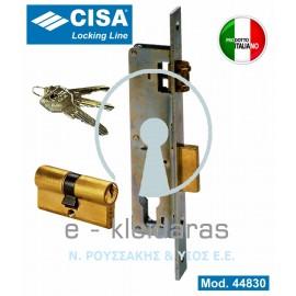 Κλειδαριά Κυλίνδρου εσωτερική (χωνευτή), με μπίλια, για Μεταλλικές πόρτες, CISA με κωδικό 44830