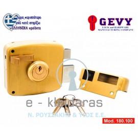 Κουτιαστή κλειδαριά κυλίνδρου για Μεταλλικές πόρτες, GEVY, με κωδικό 180.100