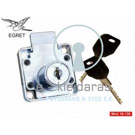 Κλειδαριές Κουτιαστές Γραμματοκιβωτίων Και Συρταριών Κίνας, EGRET, με κωδικό HL 138