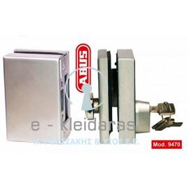 Κλειδαριά ασφαλείας για γυάλινη πόρτα, με κύλινδρο (πρόσθετη), ABUS, με κωδικό 9470