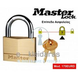 Λουκέτο Ορειχάλκινο, Master Lock, με κωδικό 170EURD