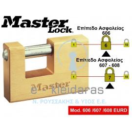 Λουκέτα Ορειχάλκινα, Master Lock, με κωδικούς 606 /607 / 608EURD