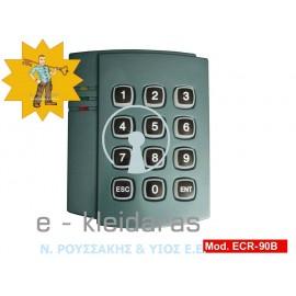 Πληκτρολόγιο ACCESS CONTROL, για κάρτες RFID και κωδικούς χρηστών (4 ψηφίων), με κωδικό ECR-90B